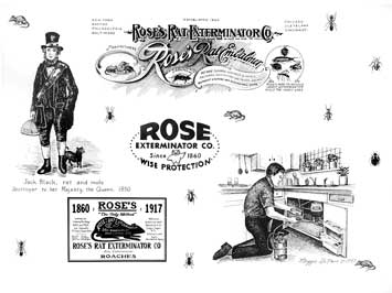 rose lobby sign showing history of company