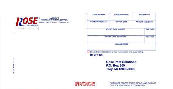 rose bill payment stub
